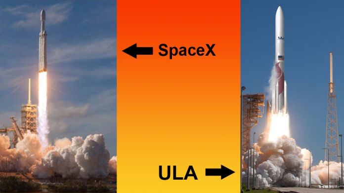 SpaceX and ULA launch